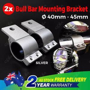 SILVER - Pair 1.6'' Bullbar Mounting Bracket Clamp 40-45mm North Melbourne Melbourne City Preview