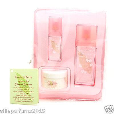 Green Tea Cherry Blossom Set - Edt Spray 1.7 Oz/Honey Drops