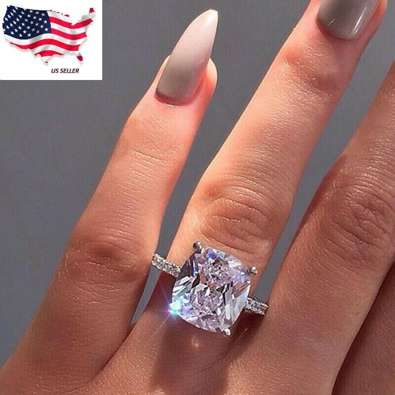 Jewellery - Sunshine Women Jewelry 925 Silver Rings White Sapphire Wedding Ring Sz 6-10