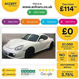 Porsche Cayman S FROM £114 PER WEEK!