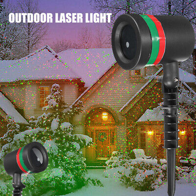 Portable Led Stage Outdoor Star Shower Laser Light Projector Party 3D Effect