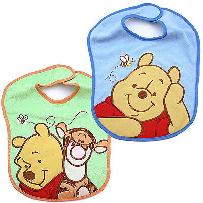 Winne the Pooh and Friends 2pc Terry Bibs Set for Boy Tigger Pooh - Elmo Toys For Girls