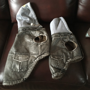 NEW FAUX LEATHER DOG COATS