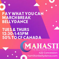 Pay What You Can March Break Bellydance for CF Canada