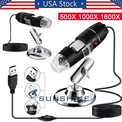 1600x Zoom 3in1 Hd 1080p Usb Microscope Digital Magnifier Endoscope Camera Video