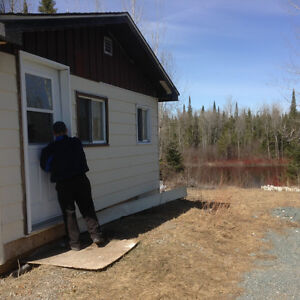WATERFRONT cabin on 2.32 ACRES ....3 hours north of North Bay