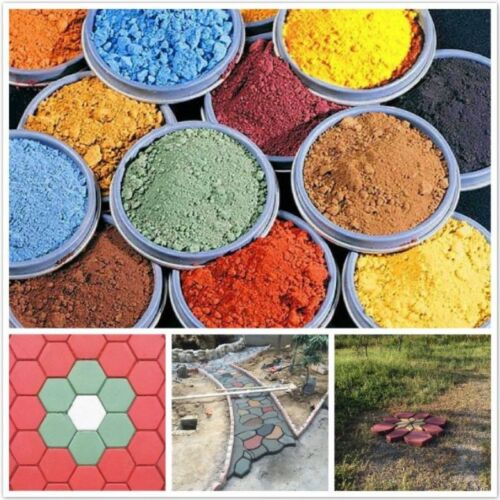 500g Concrete Color Grout Plaster Multi Colored 1LB Pigment Dye ...