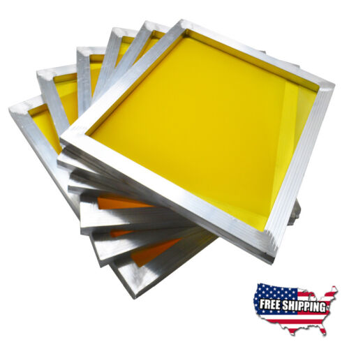 6 pcs Screen Printing Aluminum Screen Frame Stretched Screen with Yellow Mesh