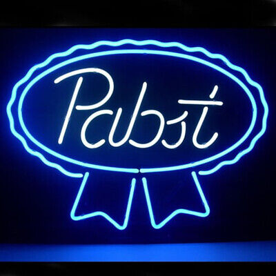 "New Pabst Blue Ribbon Lager Ale Neon Light Sign 17""x14"" Beer Cave Gift for sale  USA"