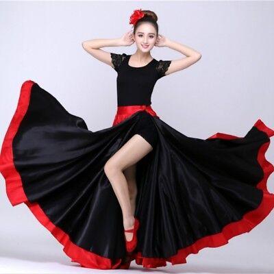 Satin Tanz Swing Rock Haken Tango Spanisch Moderne Tanzbekleidung (Tango Ballett Kostüm)