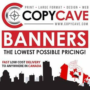 OUTDOOR VINYL BANNER PRINTING | Extra durable banners @ $3.60 per sq foot! Design your banner online or let us handle it