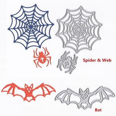 Halloween Spider Web Stencil (Halloween Bat Spider Web Metal Cutting Dies Stencil For DIY Scrapbooking)