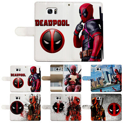Deadpool Flip Wallet Phone Case Cover Fit For Iphone Xs Max 5/6s/7/8 plus Xr Xs