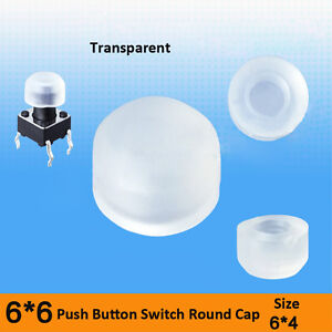 A63-6x4mm-Clear-Push-Button-Switch-Round-Cap-for-6x6mm-Tactile-Switch-Cap-Only