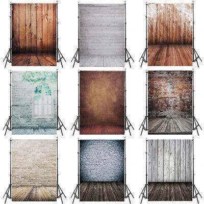 Wood Floor Photo Backdrops Studio Brick Wall Photography Backgrounds Vinyl 5x7ft