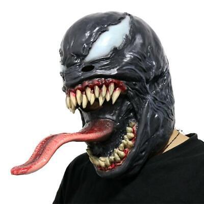 Maschera Venom cosplay film uomo ragno nero spiderman carnevale halloween adulti