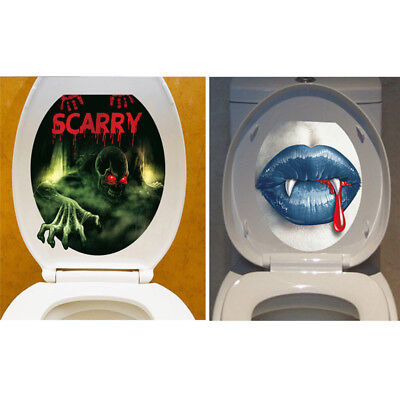 5PCS Halloween Horror Toilet Wall 3D Stickers Home Decoration Mural Party Gift