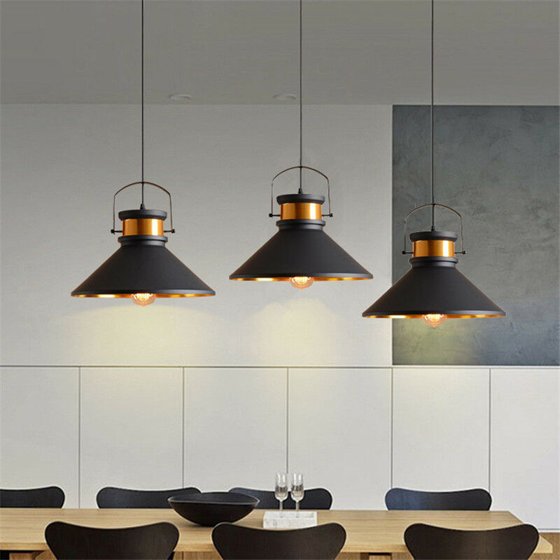 Details About Black Pendant Light Home Lamp Kitchen Chandelier Lighting Vintage Ceiling Lights