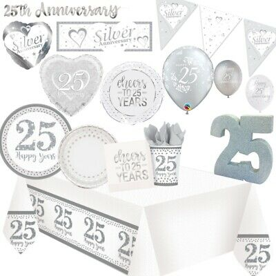 25th Silver Wedding Anniversary Party Supplies Tableware, Decorations & Balloons](25th Wedding Anniversary Balloons Decorations)