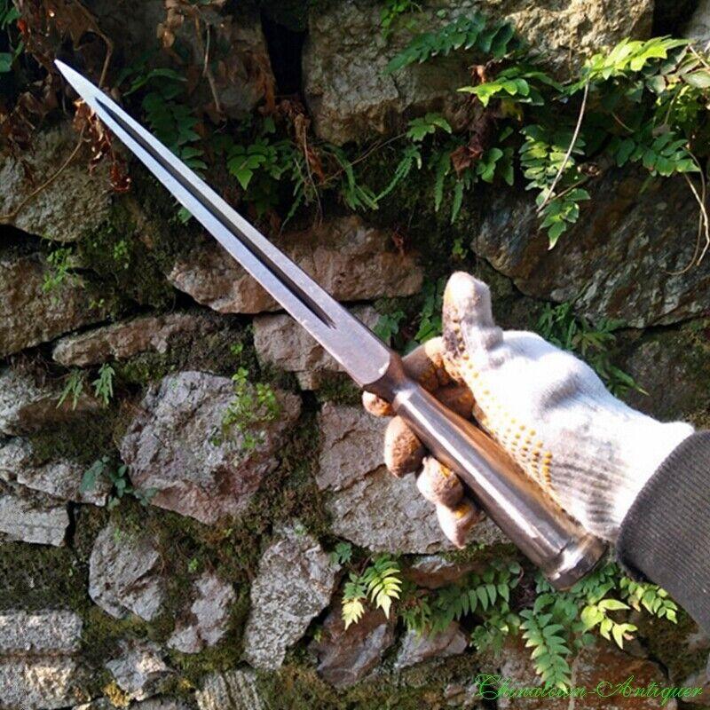 Boar Spear Spearhead Sharp Sword Honsanmai Pattern Steel + T10 Steel Blade #2292