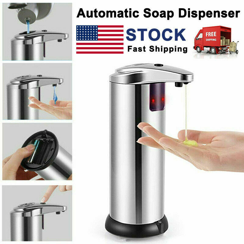 Automatic Soap Liquid Dispenser Stainless Steel Hand Free IR Sensor Touchless