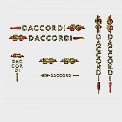 Daccordi 50th Anniversary Bicycle Decals, Transfers, Stickers n.1, used for sale  Shipping to United States