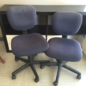 2 Armless Office Chairs.
