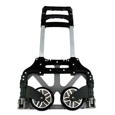 176lbs Cart Folding Dolly Push Truck Hand Trolley Luggage Aluminium Wblack Cord