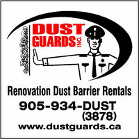 RENOVATION DUST BARRIER RENTALS ( installation included )