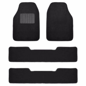 FH Group F14406BLACK Black Carpet Floor Mat with Drivers HeelPad