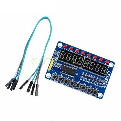 8-bit Led 8-bit Digital Tube 8 Keys Tm1638 Display Module For Avr Arduino Arm M