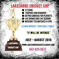 Limited Spots- Summer Mississauga/Brampton Lakeshore Cricket Cup