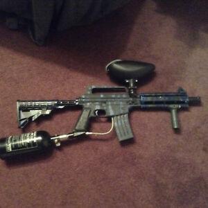 Paintball gun setup