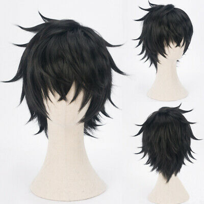 The Rising of the Shield Naofumi Iwatani Wig Black Cosplay With Cap Hair New