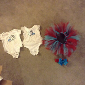 Thing 1 & Thing 2 onesies + matching tutu