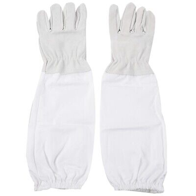 1 Pair Of Beekeeping Protective Gloves With Vented Long Sleeves Z9x9