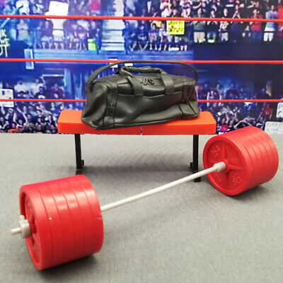 WWE Mattel Elite GYM Wrestling FIGURE ACCESSORY Playset LOT Weights Bag Bench 1E, used for sale  Shipping to South Africa
