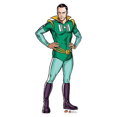 SUPERHERO SHELDON Big Bang Theory Jim Parsons CARDBOARD CUTOUT Standup Standee