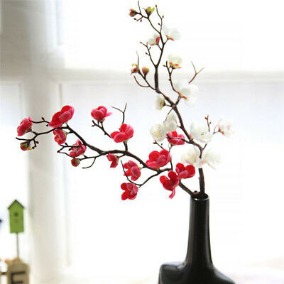 (Artificial Plum Flower Fake Branch Flower for Home Party Wedding Decoration)