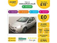 Renault Clio 1.2 16v ( 75bhp ) 2011MY Dynamique Tom Tom FROM £15 PER WEEK