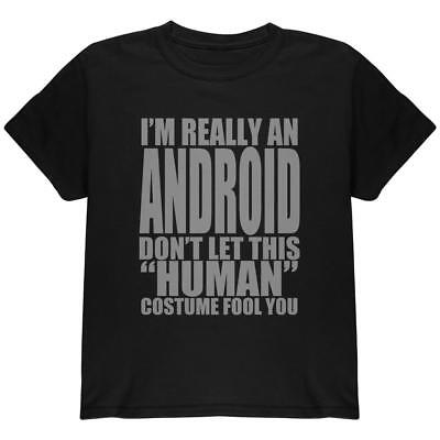 Halloween Human Android Costume Youth T Shirt - Android Halloween