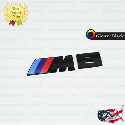 BMW M6 Emblem Glossy Black M Series Badge Rear Trunk Logo Sticker Competition