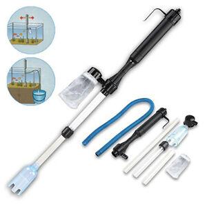 Aquarium Gravel Battery Fish Tank Vacuum Cleaner Pump Water Filter UK Seller