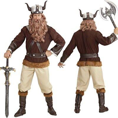 WIKINGER Herren Kostüm deluxe Erik der Barbar Nordmann - Wikinger Mann Kostüme