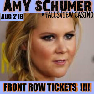 AMY SCHUMER @ FALLSVIEW CASINO –AMAZING FRONT ROW TICKETS & MORE