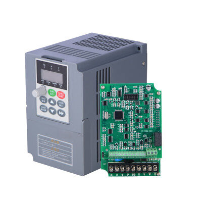 Vfd Universal Frequency Converter 2.2kw 3hp Single Phase Vector 220v For Cnc