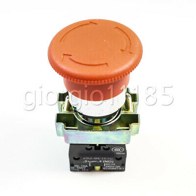 Us Stock Xb2-bs545 1nc 1no Contact Twist Reset Emergency Stop Button Switch