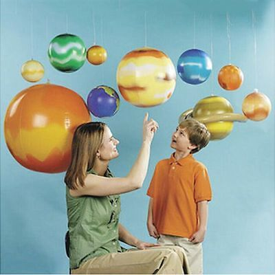 Inflatable Solar System Planets Imitation Learning Science Balloons Teaching Toy - Inflatable Planets
