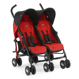 Chicco Geschwister-Buggy / Zwillings-Buggy Echo Twin Design Garnet NEU SALE