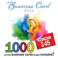 Business cards: 1000 for only 45$